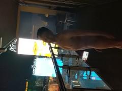 Daniel Hausser naked balcony Cosmopolitan Las Vegas.