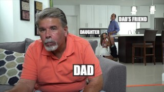 Screen Capture of Video Titled: DON'T FUCK MY DAUGHTER - Glen Woodview Fucks His Buddy's Daughter Liza Rowe