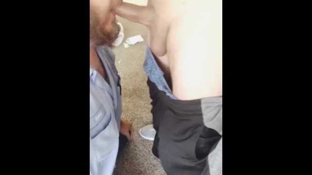 Sucking off A thug Latino at work.