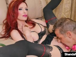 Wonderful Wife Shanda Fay Creams Her Cunt On Hubby!