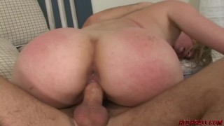 Blonde Teen has a HUGE BUBBLE BUTT and loves to fuck big dick!
