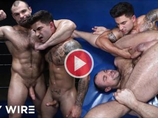 Gaywire oiled gay championship wrestling with jax thanatos...