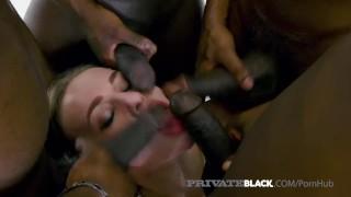 Private Black - Cock Hungry Babe Liberta Black Bangs 4 BBCs!
