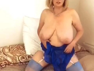 Annabel's electric blue sheer negligee, see the next part on my ONLYFANS