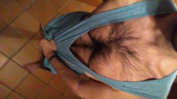 Hot hairy guy edges and jerks off his big cock