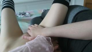 lesbiche tocca la sua ragazza fino a quando lei cums | anniversario remake!