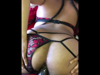 Ebony Nerd Does Anal For The First Time On Film!!