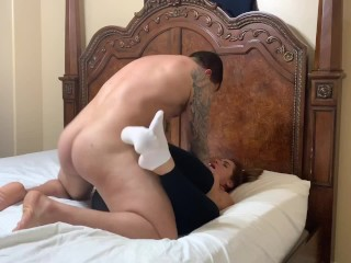 big ass yoga instructor gets fucked through her yoga pants