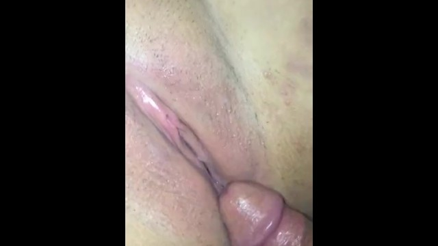 Teasing Big tittiesG 's pussy with my cock 16