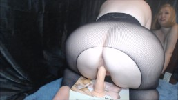 Reverse Cowgirl Dildo Riding and Squirting