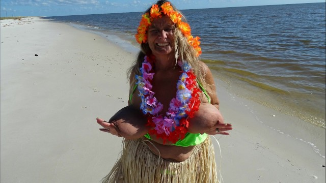 Beach Hula Girl Dance (includes 101 photo musical slide show)