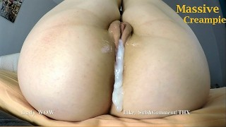 Cum inside me please with HUGE dripping creampie! Lady WOW