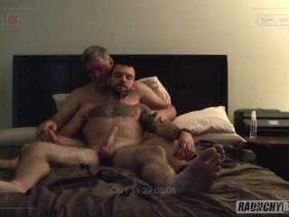 Older fat man invites younger rent boy to...