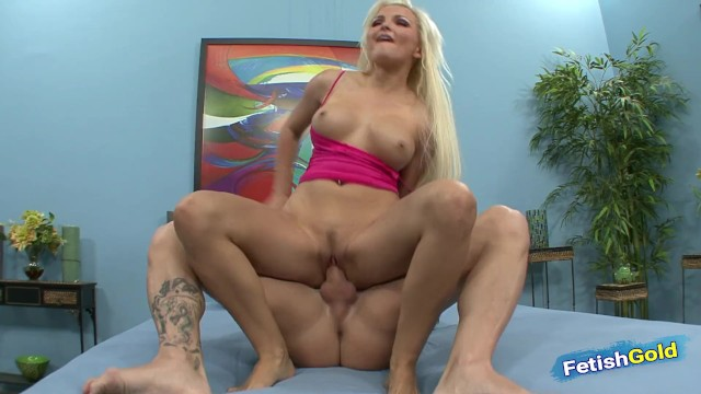 Kinky teen blonde gives awesome footjob before passional fuck 12