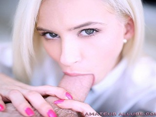 SEXY SCHOOLGIRL KIARA COLE GETS A LESSON IN SWALLOWING AT AMATEUR ALLURE