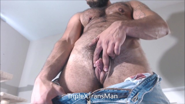 Hairy Muscular FTM TransMan Shows Off . More @ JustFor.fans/TripleXTransMan 14