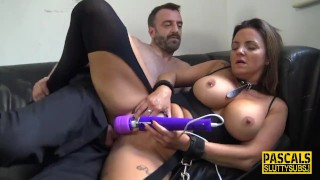 Throated milf sub bound