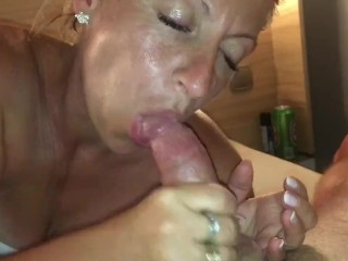 Hot with swallowing cum on holidays in italy...