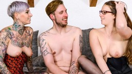HITZEFREI Threesome with two hot German babes Cat Coxx and Marie Skyler