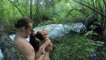 Fucking my sexy tinder date in nature and almost getting caught repeatedly