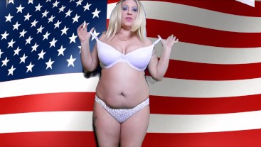 4TH OF JULY GET READY MILF, JOI, NATURAL AMERICAN WOMAN
