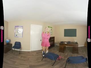 CHLOE TOY'S NAUGHTY PUSSY PROMISES IN HER SCHOOLGIRL UNIFORM (VR180 3D)