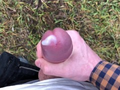 Horny BOY with HUGE DICK(23cm) Jerking OFF OUTDOOR IN THE COLD WEATHER