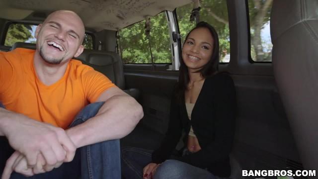 BANGBROS - Petite Latina Trades Her Ass For Cash On Bang Bus! 9