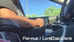 Beating my big black Dick in public in the mall parking lot