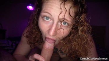 Milf Redhead Goddess Ivy Sensually Sucks Cum out of Hubby's Dick CIM