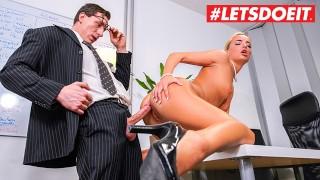 LETSDOEIT - Slutty German Secretary Caught Masturbating By Her Boss
