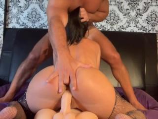 Horny School Teacher fucks her 2 roommates - first threesome