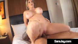 Thick Booty Star Sara Jay Wrecked By Big Cock Muscle Man!