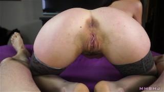 Ball draining beauty handles my cock like a pro (It's Cleo)