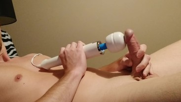 Jerking Off With The Hitachi Wand