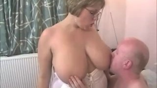 Amazing 32HH housewife CurvyClaire fucked in PVC thigh high boots