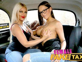 Female Fake Taxi Lesbisch Trib