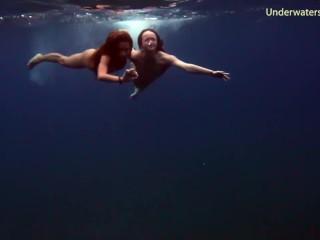 Submerged underwater...