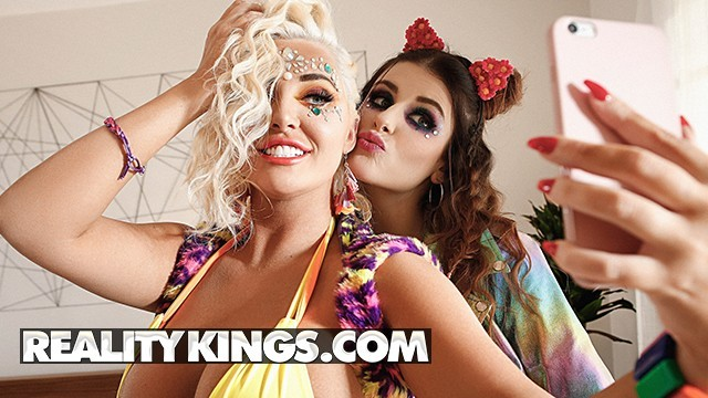 Reality Kings - Big tit raver girls Michele James & Karissa Shannon