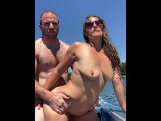 Public Fucking at the Lake on our Boat with Oral Cream Pie-Austinlillian