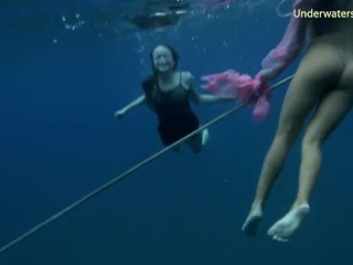 Swimming naked...