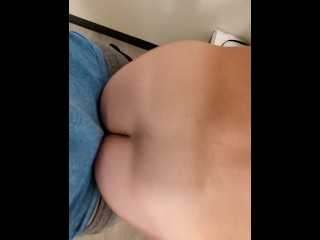 Hot girl with big ass and cums room...