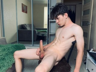 Cum twice in a row 23cm perfect body...