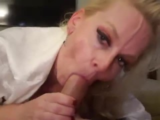 Roleplay mom pops vein giving step son blowjob...