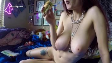 Smoking and eating subway