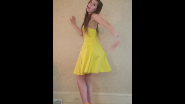 Lingerie christmas bad idea Dance strip from yellow dress and heels to bad idea by ariana grande