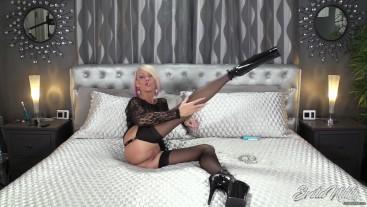 Sinfully Sensual Pussy Tease While Smoking In Stockings - Nikki Ashton -