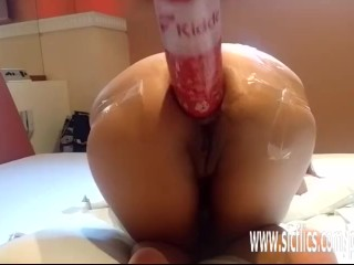 Extreme anal fisting and fire extinguisher fuck