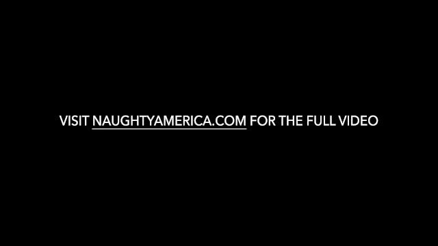 Naughty America - Blonde petite babe Aubrey Addams takes a huge facial 25