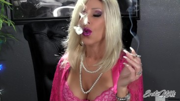 Chain Smoking In Pink Lace - Nikki Ashton -
